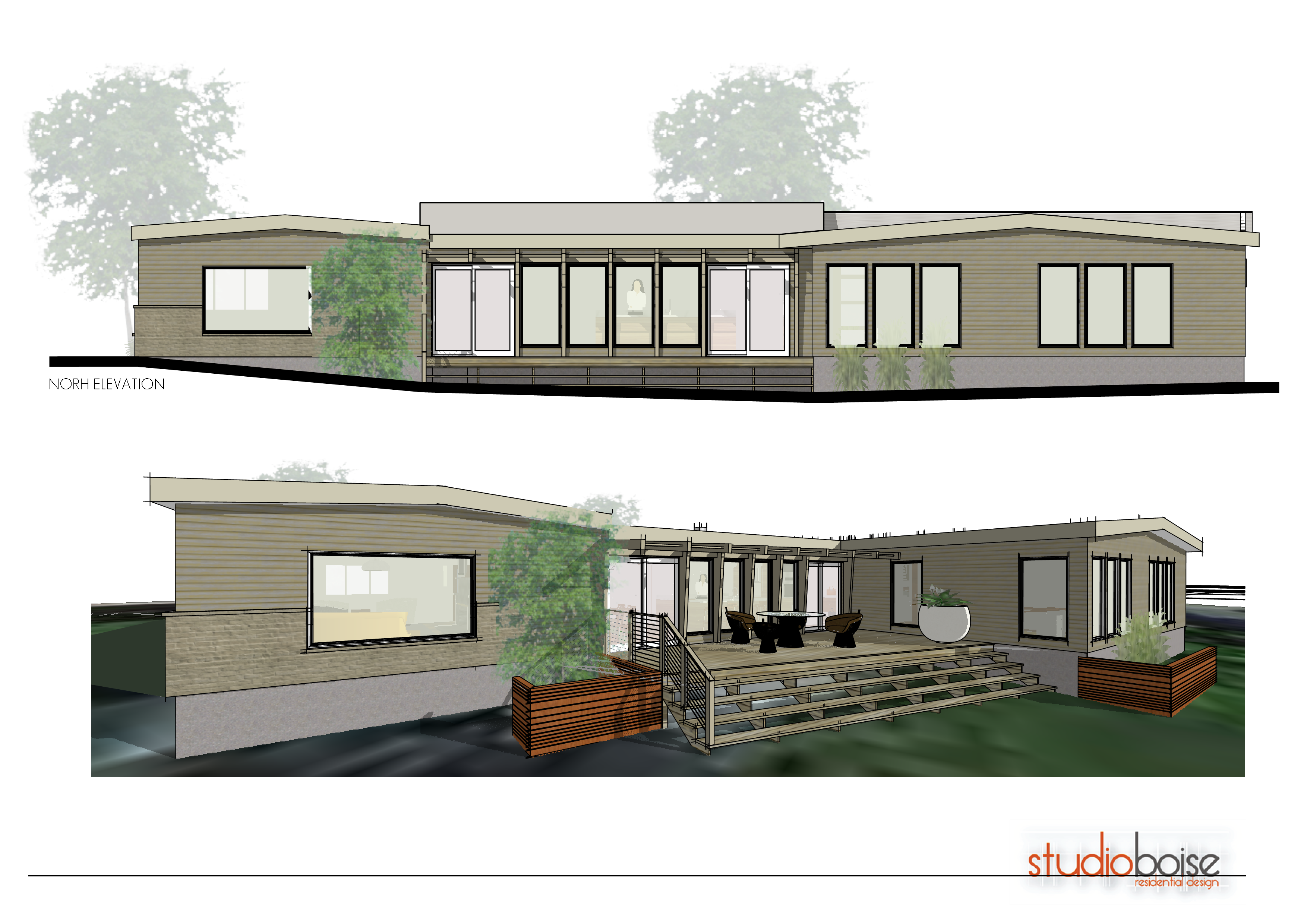 Mid Century Mod Remodel Elevation And Perspective 10 10